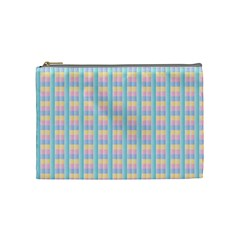 Grid Squares Texture Pattern Cosmetic Bag (Medium)
