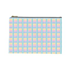 Grid Squares Texture Pattern Cosmetic Bag (Large)