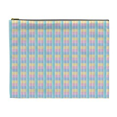 Grid Squares Texture Pattern Cosmetic Bag (XL)