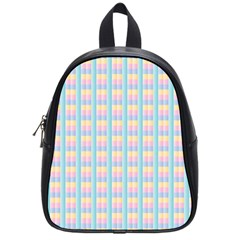 Grid Squares Texture Pattern School Bags (Small)