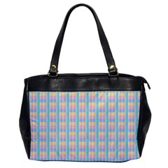 Grid Squares Texture Pattern Office Handbags