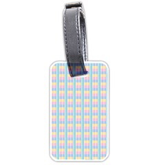 Grid Squares Texture Pattern Luggage Tags (One Side)