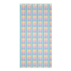 Grid Squares Texture Pattern Shower Curtain 36  x 72  (Stall)