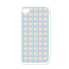 Grid Squares Texture Pattern Apple iPhone 4 Case (White)