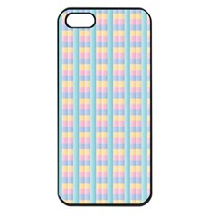 Grid Squares Texture Pattern Apple iPhone 5 Seamless Case (Black)