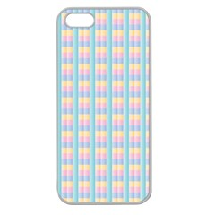 Grid Squares Texture Pattern Apple Seamless Iphone 5 Case (clear)