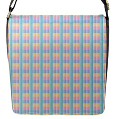 Grid Squares Texture Pattern Flap Messenger Bag (s)