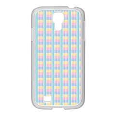 Grid Squares Texture Pattern Samsung Galaxy S4 I9500/ I9505 Case (white)
