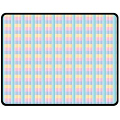 Grid Squares Texture Pattern Double Sided Fleece Blanket (Medium)