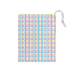 Grid Squares Texture Pattern Drawstring Pouches (medium)