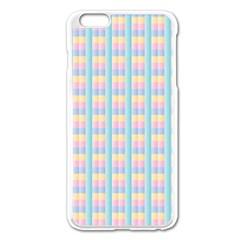 Grid Squares Texture Pattern Apple iPhone 6 Plus/6S Plus Enamel White Case