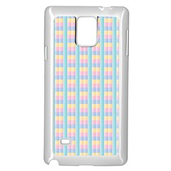 Grid Squares Texture Pattern Samsung Galaxy Note 4 Case (White)