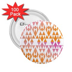 Geometric Abstract Orange Purple Pattern 2.25  Buttons (100 pack)