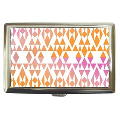 Geometric Abstract Orange Purple Pattern Cigarette Money Cases