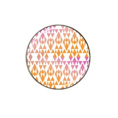 Geometric Abstract Orange Purple Pattern Hat Clip Ball Marker