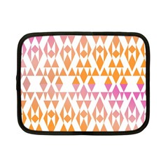 Geometric Abstract Orange Purple Pattern Netbook Case (Small)