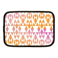 Geometric Abstract Orange Purple Pattern Netbook Case (Medium)