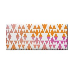 Geometric Abstract Orange Purple Pattern Cosmetic Storage Cases