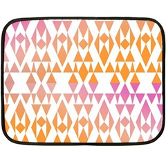 Geometric Abstract Orange Purple Pattern Double Sided Fleece Blanket (Mini)