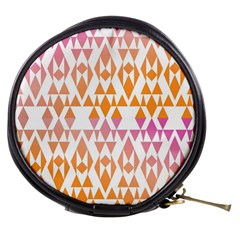 Geometric Abstract Orange Purple Pattern Mini Makeup Bags