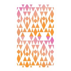 Geometric Abstract Orange Purple Pattern Memory Card Reader