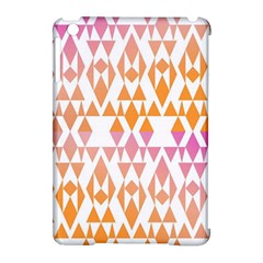 Geometric Abstract Orange Purple Pattern Apple iPad Mini Hardshell Case (Compatible with Smart Cover)