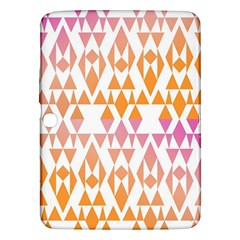 Geometric Abstract Orange Purple Pattern Samsung Galaxy Tab 3 (10.1 ) P5200 Hardshell Case