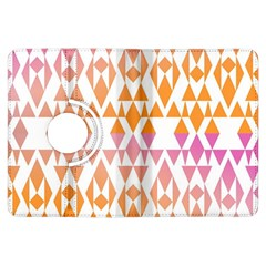 Geometric Abstract Orange Purple Pattern Kindle Fire HDX Flip 360 Case