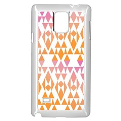 Geometric Abstract Orange Purple Pattern Samsung Galaxy Note 4 Case (white)