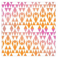 Geometric Abstract Orange Purple Pattern Large Satin Scarf (Square)