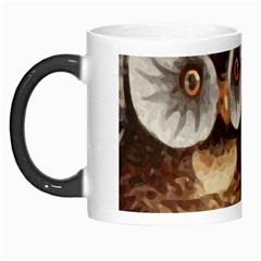 Owl And Black Cat Morph Mugs