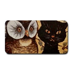 Owl And Black Cat Medium Bar Mats
