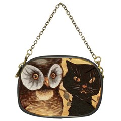 Owl And Black Cat Chain Purses (One Side)