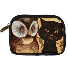 Owl And Black Cat Digital Camera Cases