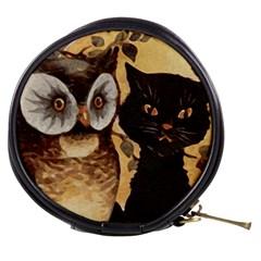Owl And Black Cat Mini Makeup Bags