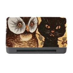Owl And Black Cat Memory Card Reader With Cf
