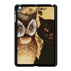 Owl And Black Cat Apple iPad Mini Case (Black)