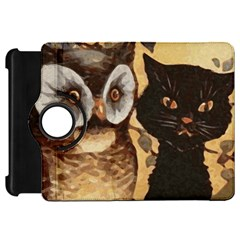 Owl And Black Cat Kindle Fire HD 7