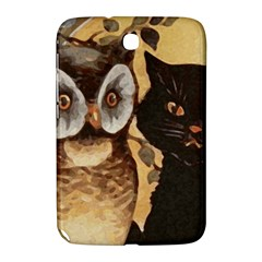 Owl And Black Cat Samsung Galaxy Note 8.0 N5100 Hardshell Case