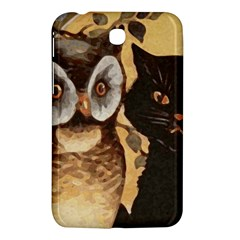 Owl And Black Cat Samsung Galaxy Tab 3 (7 ) P3200 Hardshell Case