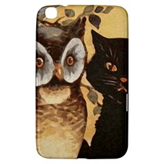 Owl And Black Cat Samsung Galaxy Tab 3 (8 ) T3100 Hardshell Case