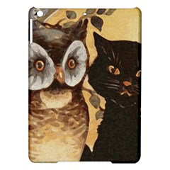 Owl And Black Cat iPad Air Hardshell Cases