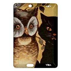 Owl And Black Cat Amazon Kindle Fire HD (2013) Hardshell Case