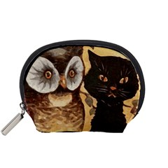 Owl And Black Cat Accessory Pouches (Small)