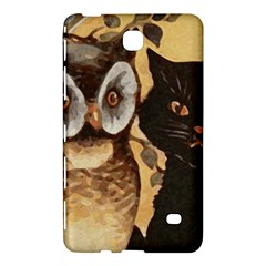 Owl And Black Cat Samsung Galaxy Tab 4 (8 ) Hardshell Case