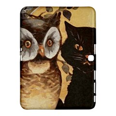 Owl And Black Cat Samsung Galaxy Tab 4 (10.1 ) Hardshell Case