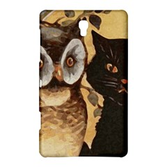 Owl And Black Cat Samsung Galaxy Tab S (8 4 ) Hardshell Case