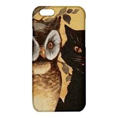 Owl And Black Cat iPhone 6/6S TPU Case