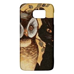 Owl And Black Cat Galaxy S6