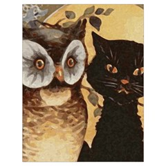 Owl And Black Cat Drawstring Bag (large)